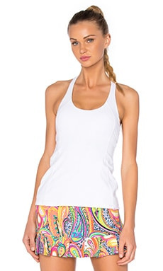 Patchwork Jacquard Tank in White
