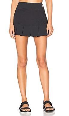 Patchwork Jacquard Tennis Skirt in Black