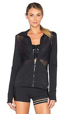 Lazer Cuts Solids Jacket in Black