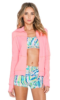 Trina Turk Racquet Club Jacquard Jacket in Neon Coral