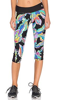 Trina Turk Sea Garden Mid Length Legging in Multi