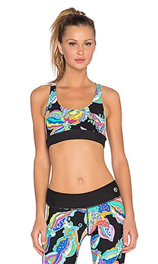 Trina Turk Sea Garden Reversible Sports Bra in Multi