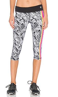 Trina Turk Harbour Island Mid Length Legging in Pink Berry