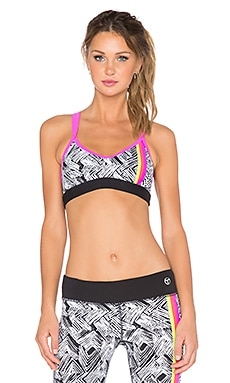 Trina Turk Harbour Island Sports Bra in Pink Berry