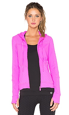 Trina Turk Bermuda Hooded Jacket in Pink Berry