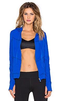 Trina Turk Bermuda Triangle Hooded Jacket in Azul