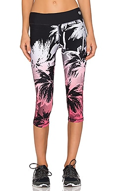 Trina Turk Palm Beach Mid Length Legging in Tigerlily