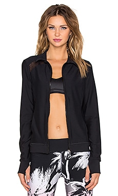 Trina Turk Slim Mesh Jacket in Black