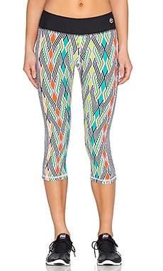Trina Turk Neon Lights Mid Length Legging in Multi