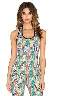 Trina Turk Neon Lights Racer Back Tank in Multi