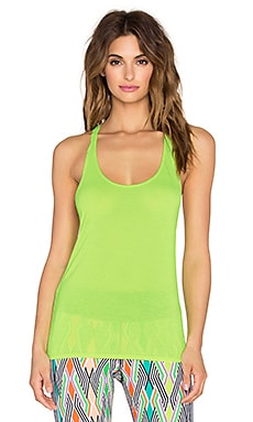Trina Turk Draped Jersey Tank in Citron