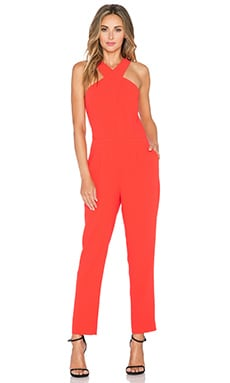 Trina Turk Jean Jumpsuit in Cherry