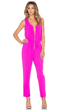 Trina Turk Fauve Jumpsuit in Brilliant Fuchsia