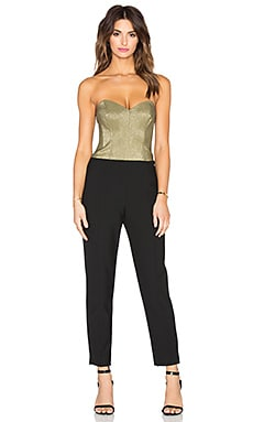 Trina Turk Vendetta Jumpsuit in Black & Gold