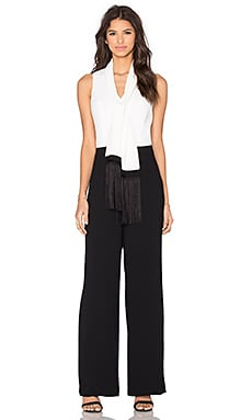 Trina Turk Moore Jumpsuit in Black & Whitewash