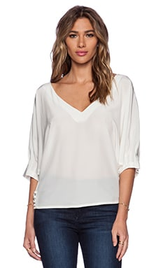 Trina Turk Garland Blouse in Whitewash