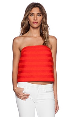 Trina Turk Johannah Bandeau Top in Poppy