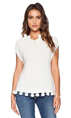 Trina Turk Hesperia Sweater Top in Whitewash