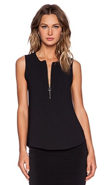 Trina Turk Dextra Top in Black