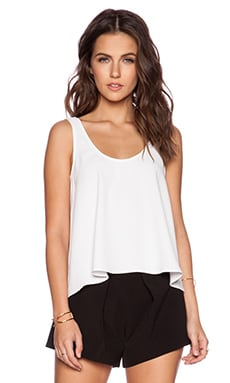 Trina Turk Tahnee Tank Top in White