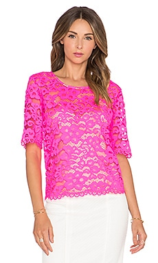 Trina Turk Gilda Top in Fuchsia