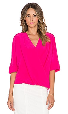 Trina Turk Coral Top in Fuchsia