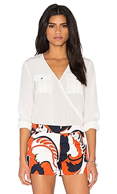 Trina Turk Carter Top in White Wash