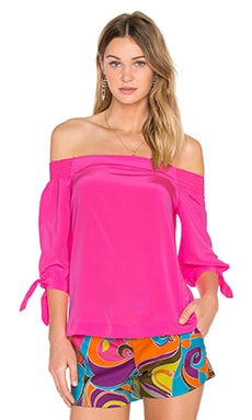 Kandis Off Shoulder Top in Flamingo