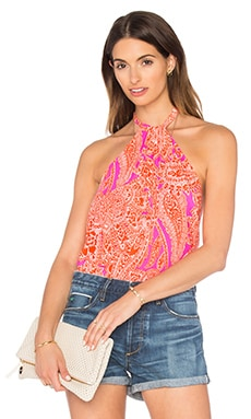 Trina Turk Tamika Reversible Halter Top in Scorpio Orange