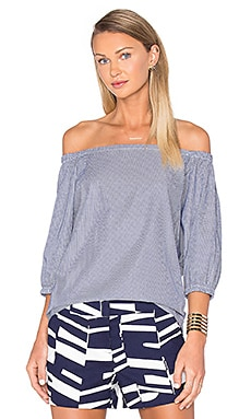 Trina Turk Darius Top in Indigo