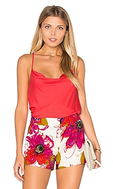 Trina Turk Bela Tank in Ruby Red