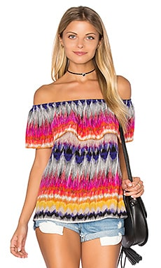 Trina Turk Zendaya Off The Shoulder Top in Multi