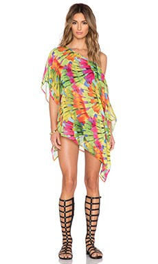 Trina Turk Polynesian Palm Crop Tunic in Multi