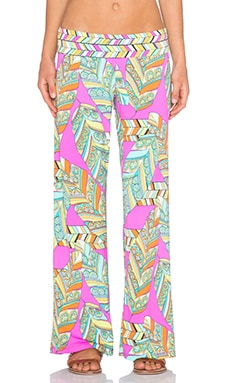 Trina Turk Tuvalu Roll Top Pant in Flamingo