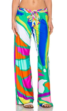 Trina Turk Tropicalia Wide Leg Pant in Multi