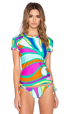 Trina Turk Tropicalia Rash Guard in Multi