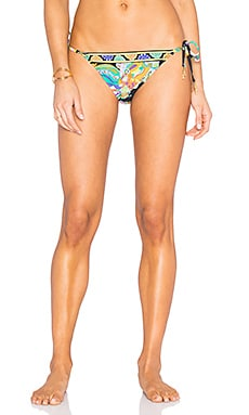 Sea Garden Tie Side Hipster Bottom in Black