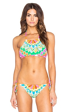 Tamarindo High Neck Bra Top en Multi