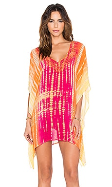 Trina Turk Nomad Tie Dye Covers Tunic in Fuchsia