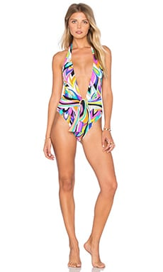 Retro Wrap One Piece in Multi