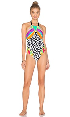 Balboa High Neck One Piece in Multi