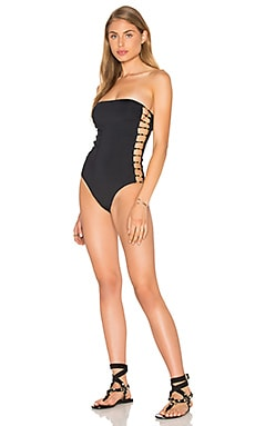 Bandeau One Piece in Black