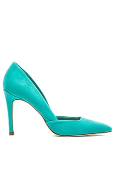 Trina Turk Hollywood Heel in Aqua Suede