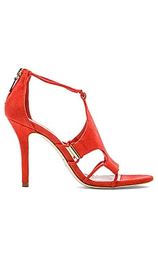 Trina Turk Lucca Heel in Coral Suede