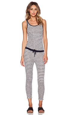 Tt Beach Theroux Jumpsuit in Grey & Navy