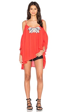 Jace Beaded Top in Coral