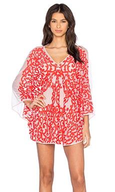Tt Beach Arden Mesh Dress in Coral