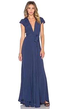 Tularosa x REVOLVE Sid Wrap Dress in Navy