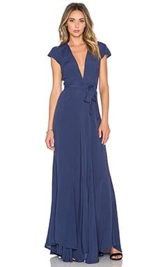 Tularosa x REVOLVE Sid Wrap Dress in Navy