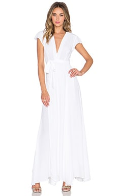 x REVOLVE Sid Wrap Dress in White